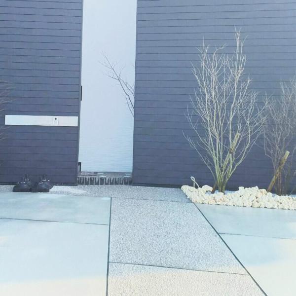 久留米市荒木町H29年4月完成事例シンプルなオープン外構