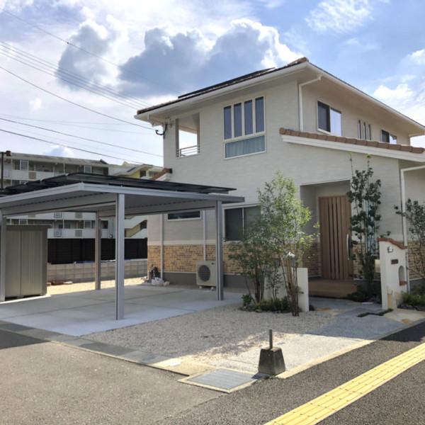 【佐賀県】店舗兼住宅にマッチした外構づくり【施工事例】